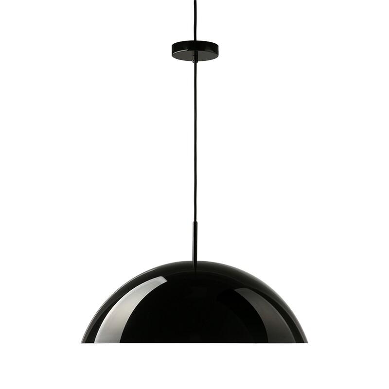 Acrylic Cupola Pendant Lamp - Black