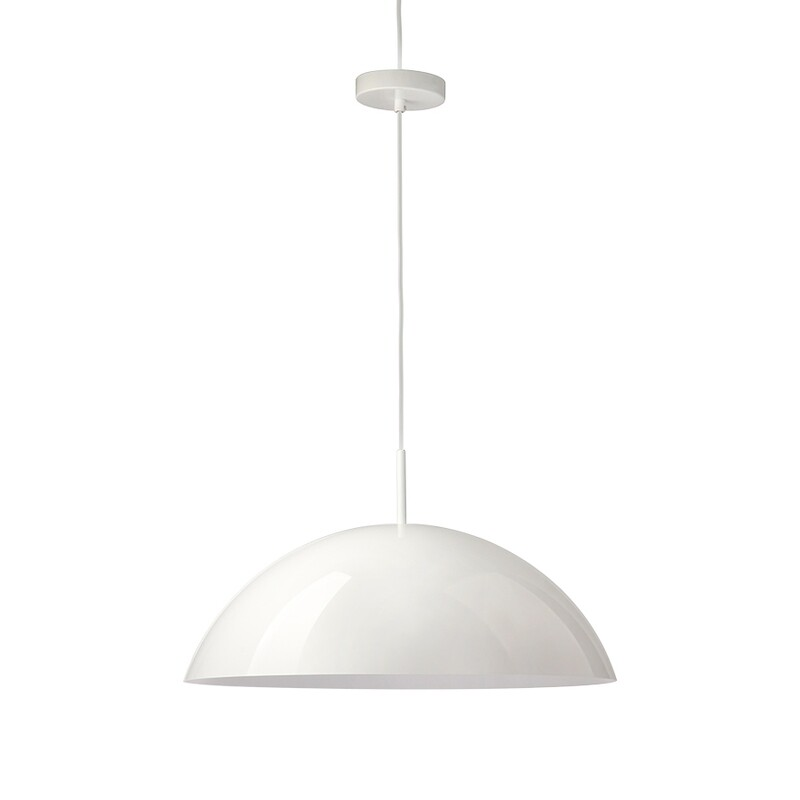 Acrylic Cupola Pendant Lamp - White