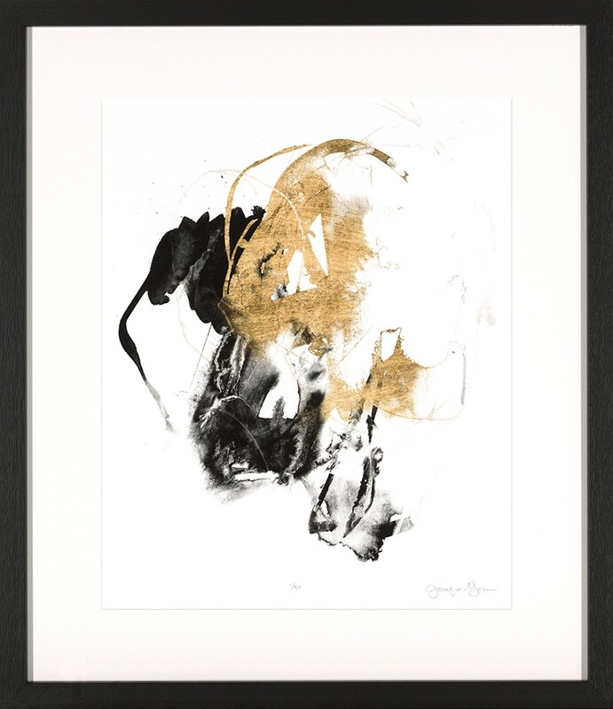 Black & Gold Splash II