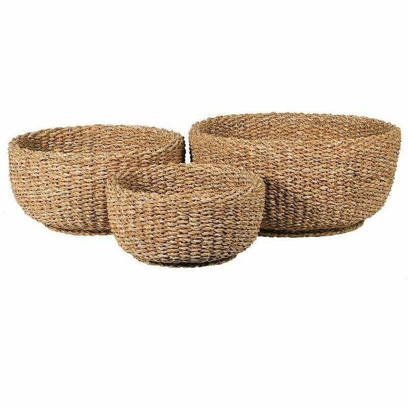 Round Woven Basket - Set of 3