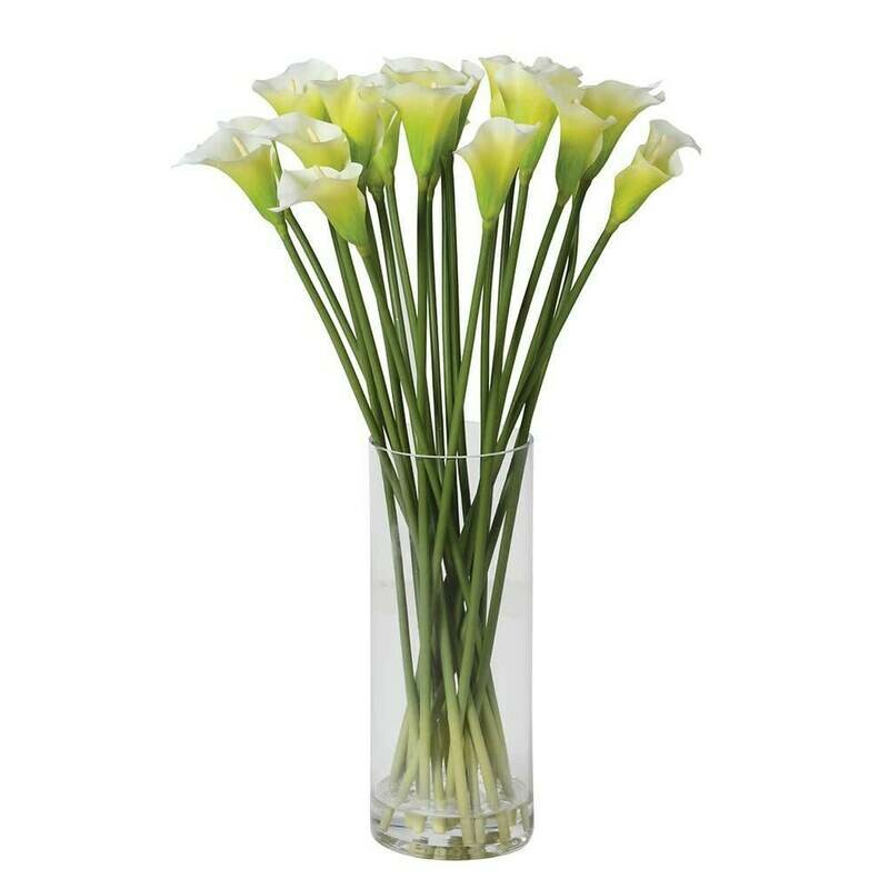 White Calla Lilies in Glass - Extra Large