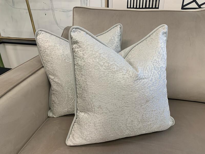Silver Custom Cushions (Pair)