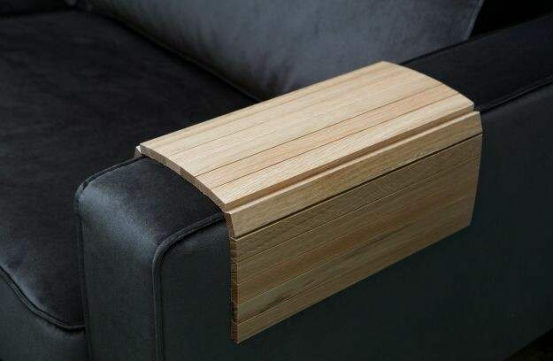 Armrest XL Flex Oak Sofa Tray