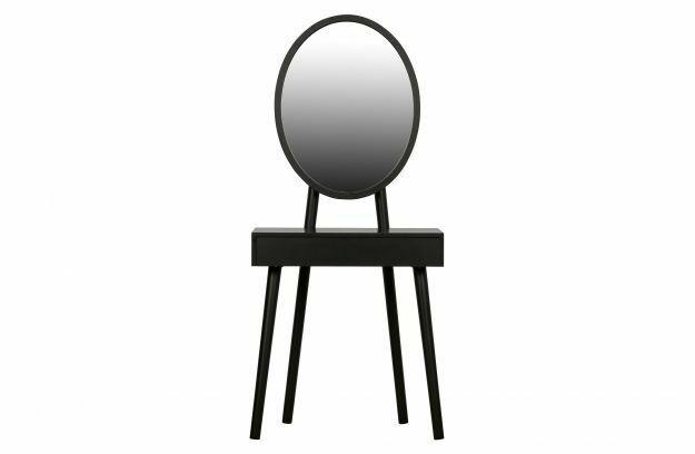 Vanity Wood Black Dressing Table
