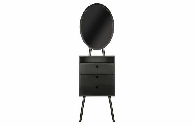 Vanity Wood Black Cabinet