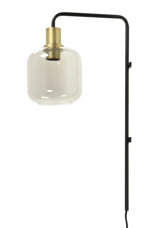 Lekar Smoked Glass Wall Lamp