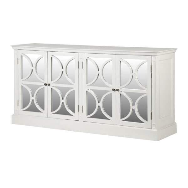 White Drawer Mirror Sideboard