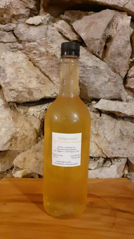 Vino BIANCO sfuso cuvèe Vitovska/Malvazija - bottiglia 1 litro (vol 12%)