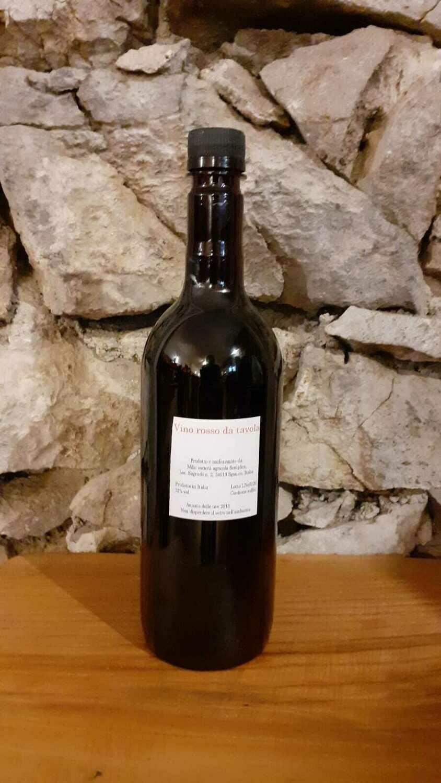 Vino ROSSO sfuso terrano - bottiglia 1 litro (vol 11,5%)