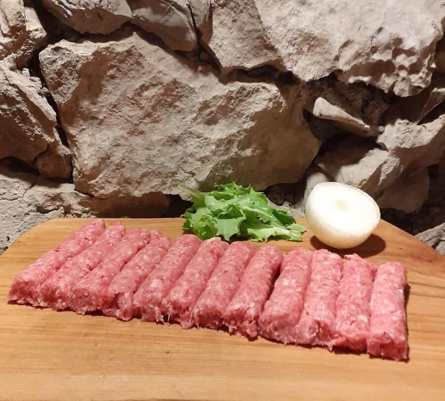 Čevapcici mix carne bovino/suino (porzione da 500 g)