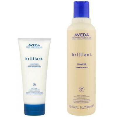 Aveda Brilliant Duo- Shampoo & Conditioner