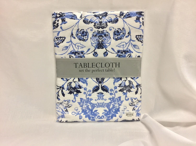 Blue Garden Tablecloth