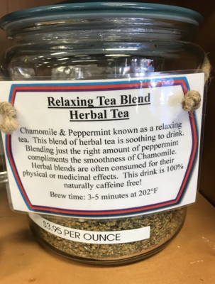 Relaxing Tea per ounce