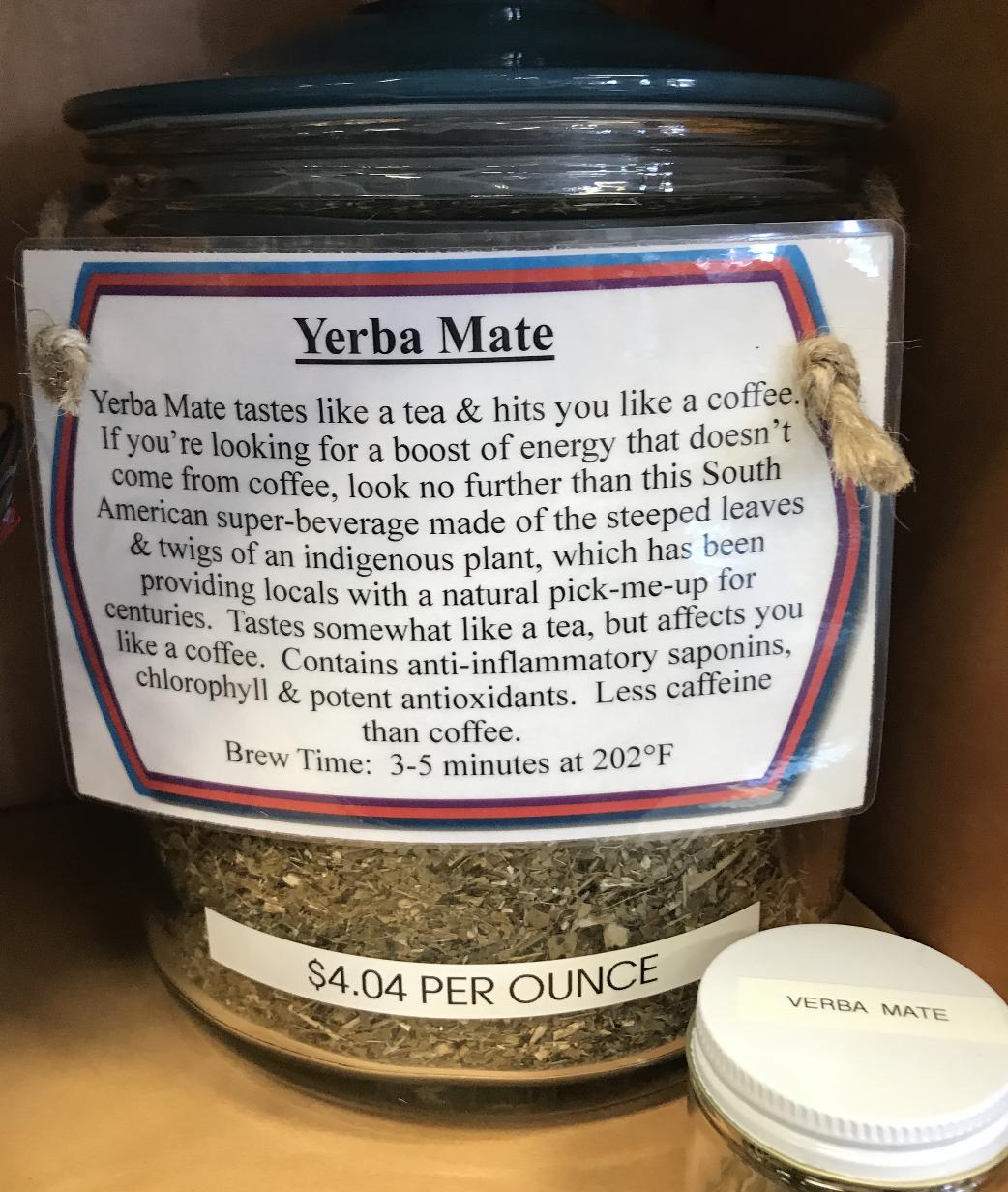 Yerba Mate Tea per ounce