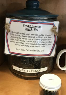 Decaf Lemon Tea per ounce