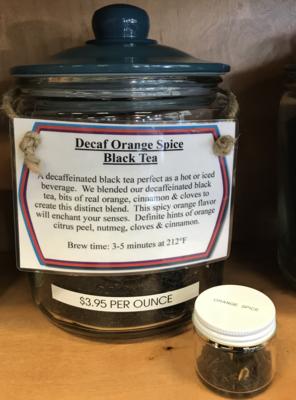 Decaf Orange Spice Tea per ounce