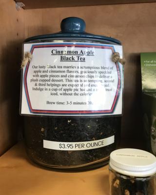 Cinnamon Apple Black Tea per ounce