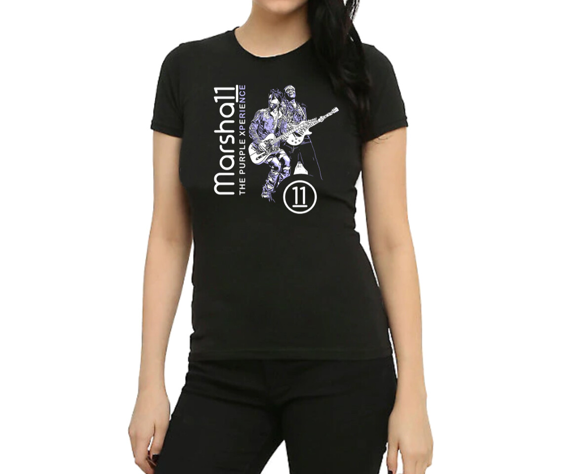 Black Marsha11 & PX Ladies' Tee