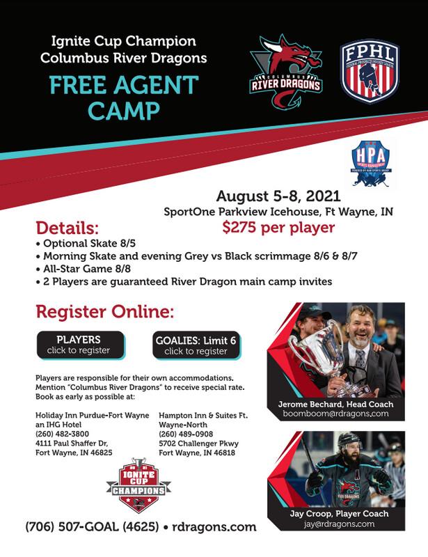 Columbus River Dragons Free Agent Camp