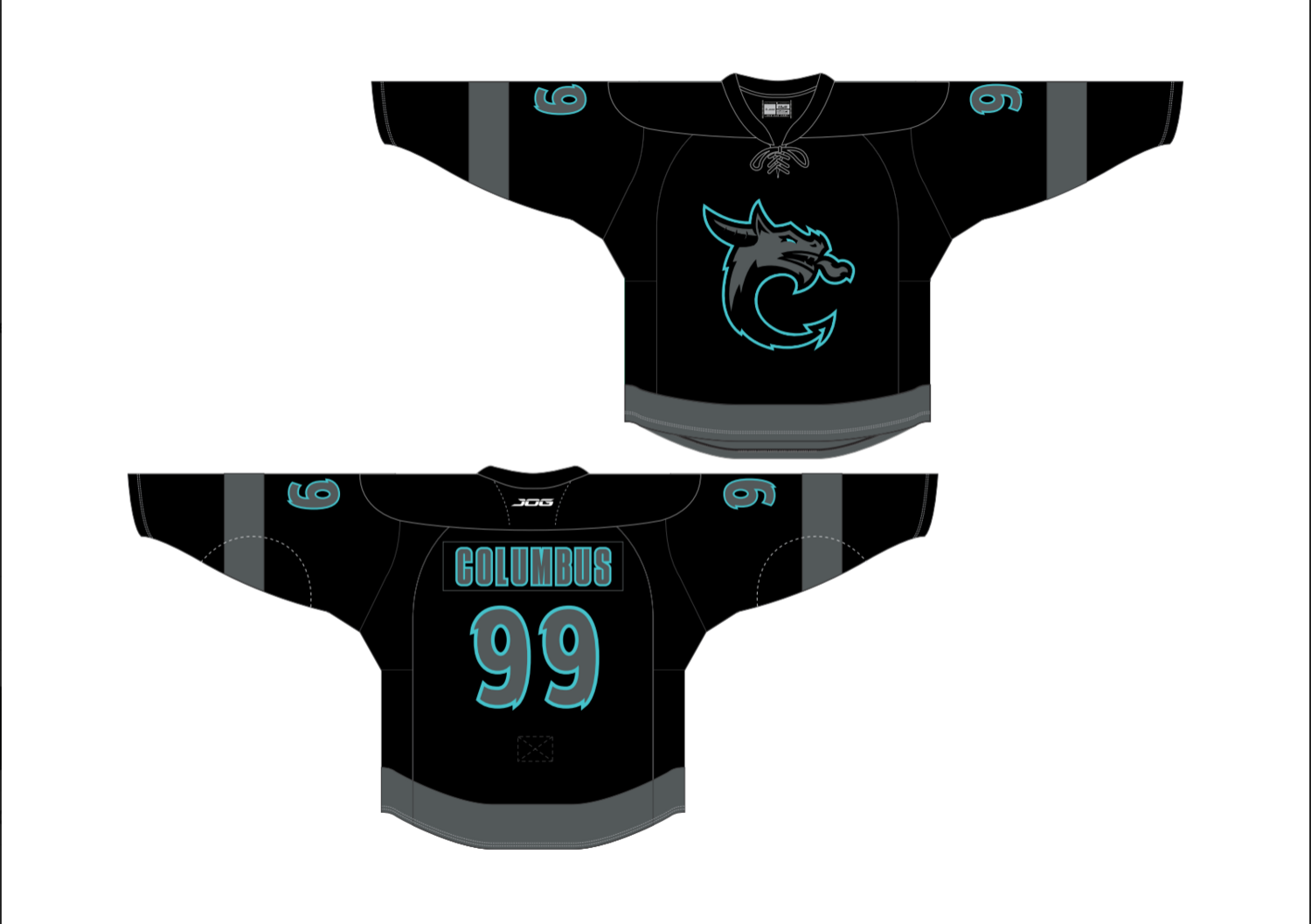 Youth Authentic Black Custom name/Number Jersey