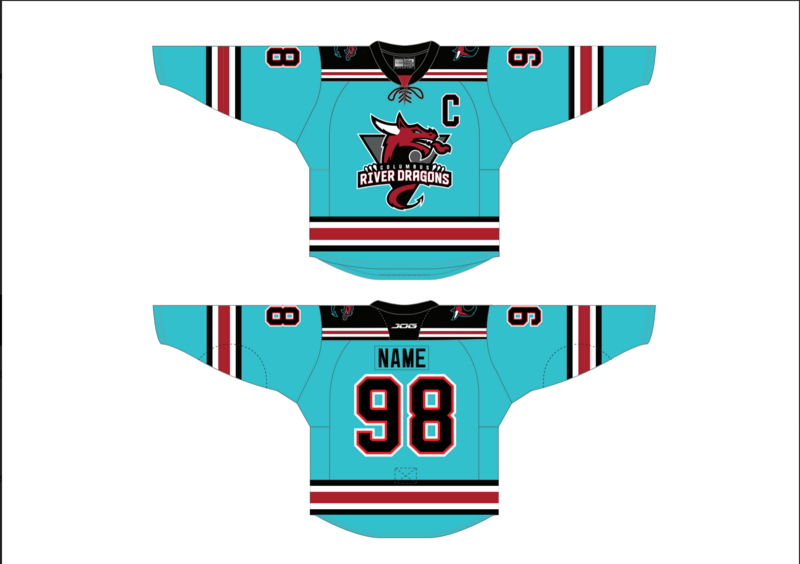 Youth Authentic Teal Custom Name/Number Jersey