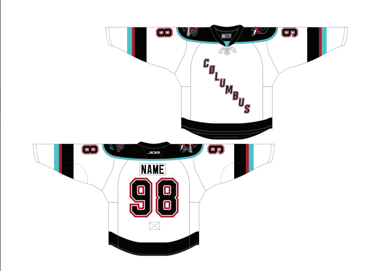 Youth Authentic White Custom Name/Number Jersey