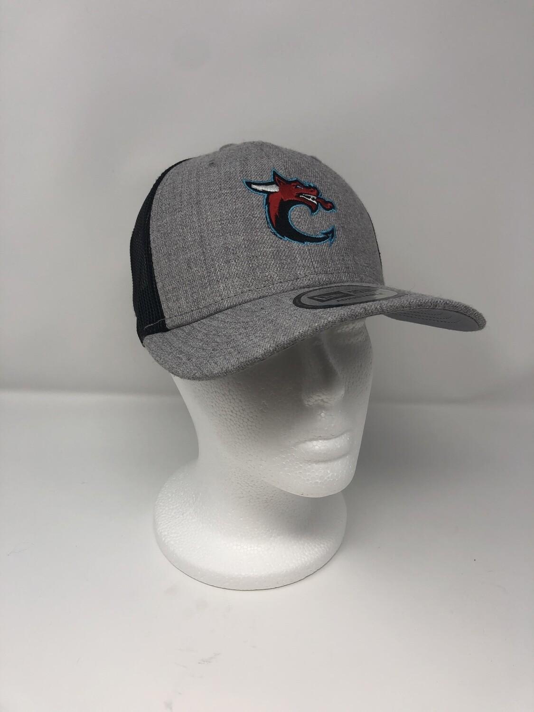 New Era Low Profile C Logo Trucker Mesh Cap