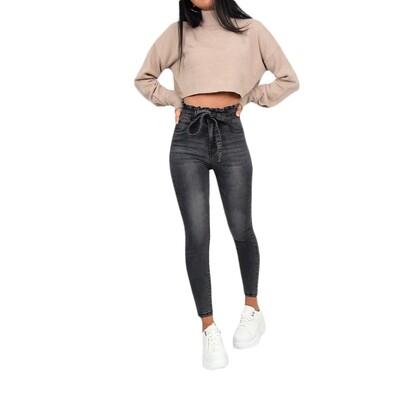 Black High Waist Slim Fit Jeans
