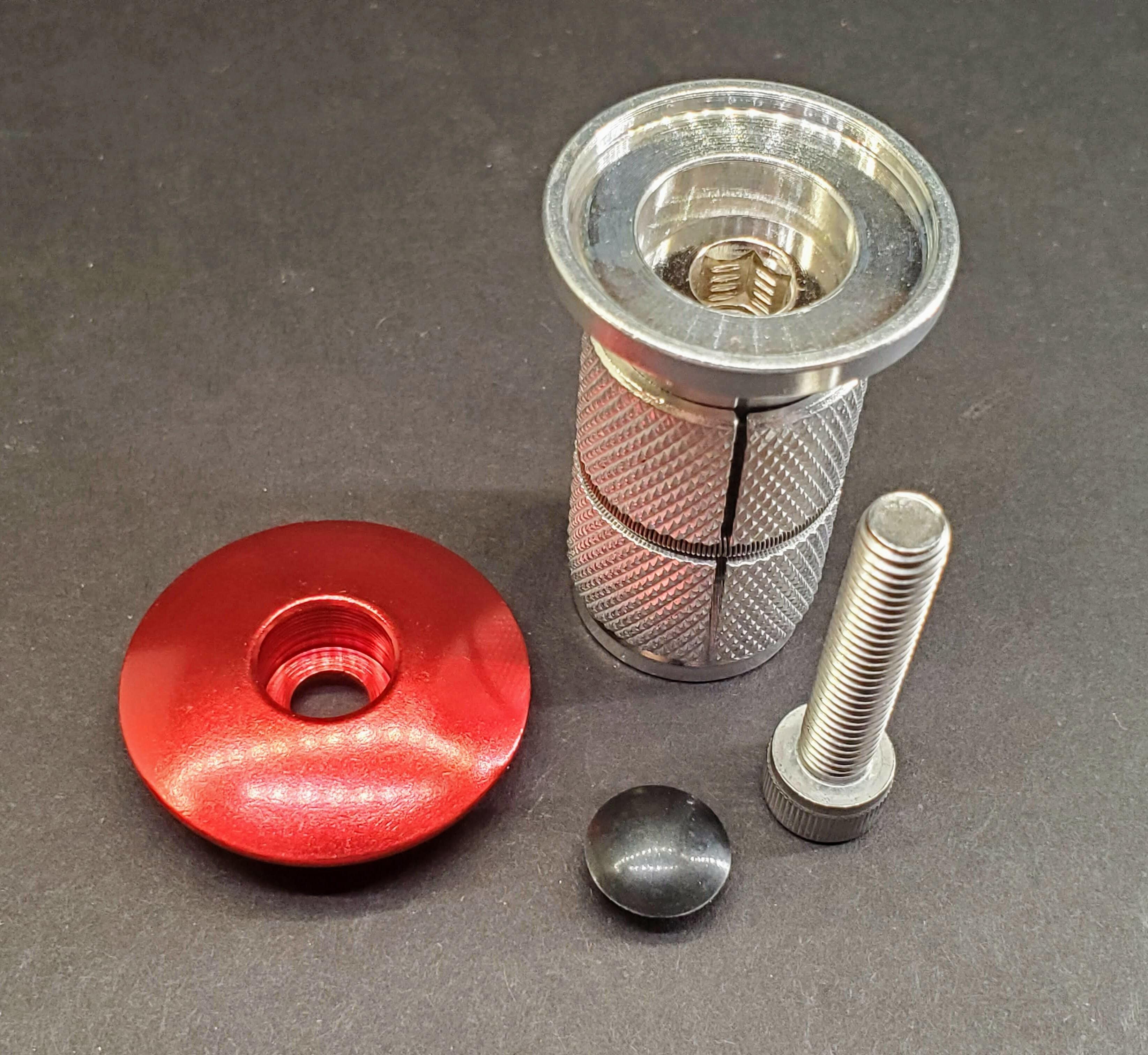 """Carbon Fork Plug Expander Threadless Headset Compressor 1-1//8/"""" Steerer Tube"""