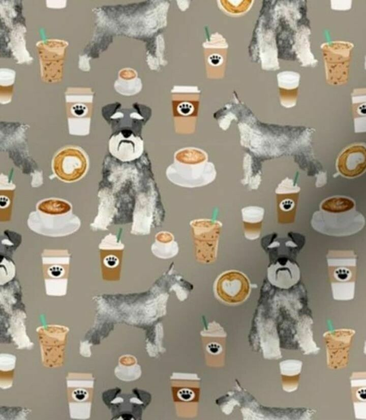 Coffee Schnauzer Face Mask