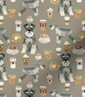 Coffee Schnauzer Face Mask
