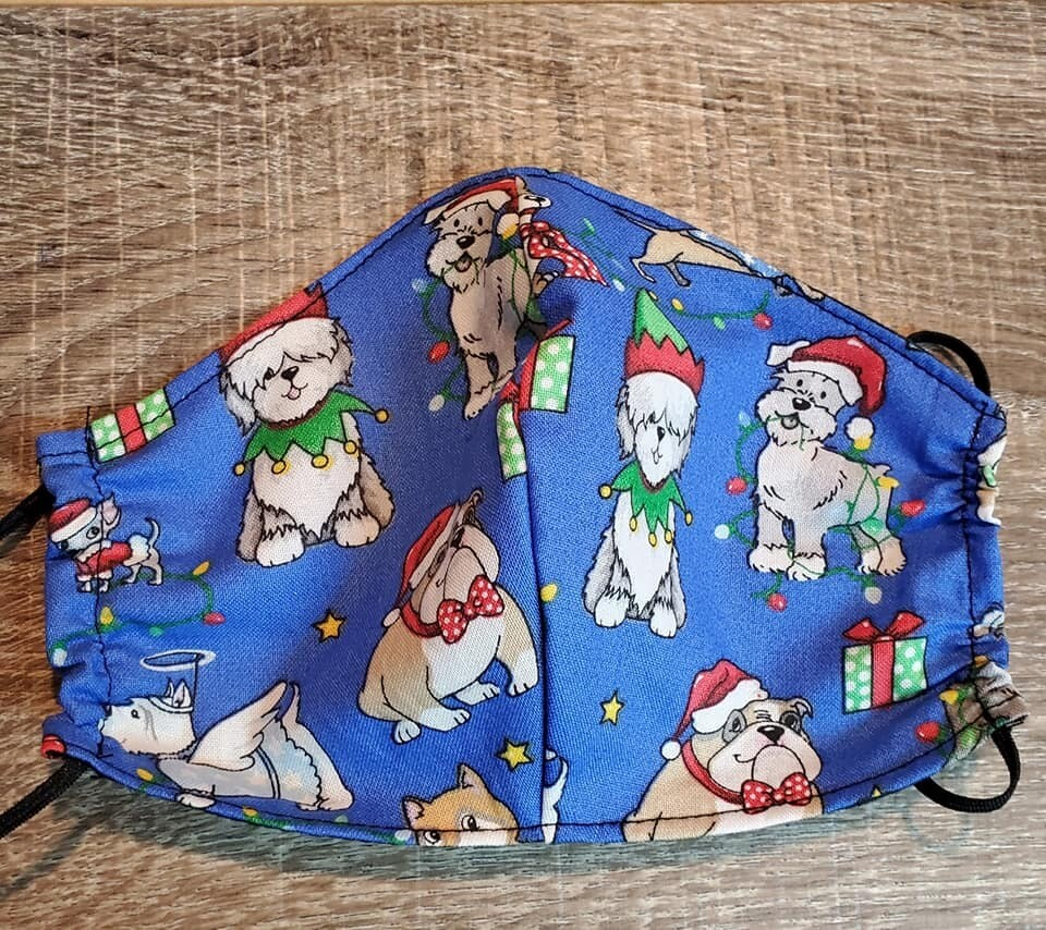 Christmas Dogs Face Mask