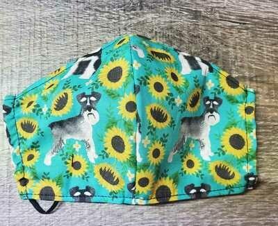 Sunflower Schnauzer Face Mask