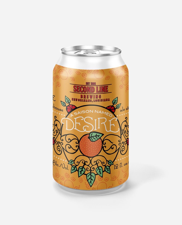 Saison Named Desire (Blood Orange Saison) - Six Pack Cans
