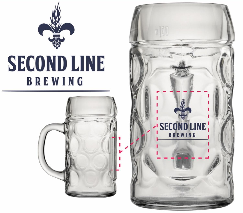 Second Line Brewing 20oz Beer Stein