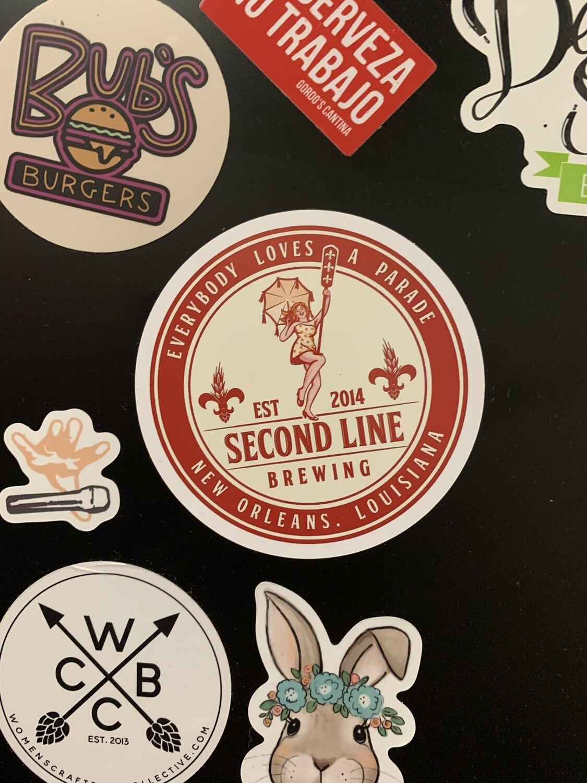 Second Line Brewing Sticker