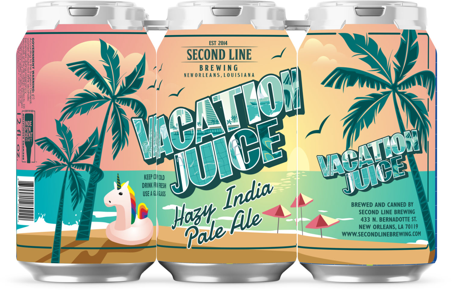 Vacation Juice Hazy IPA - 6 pack of 12oz cans