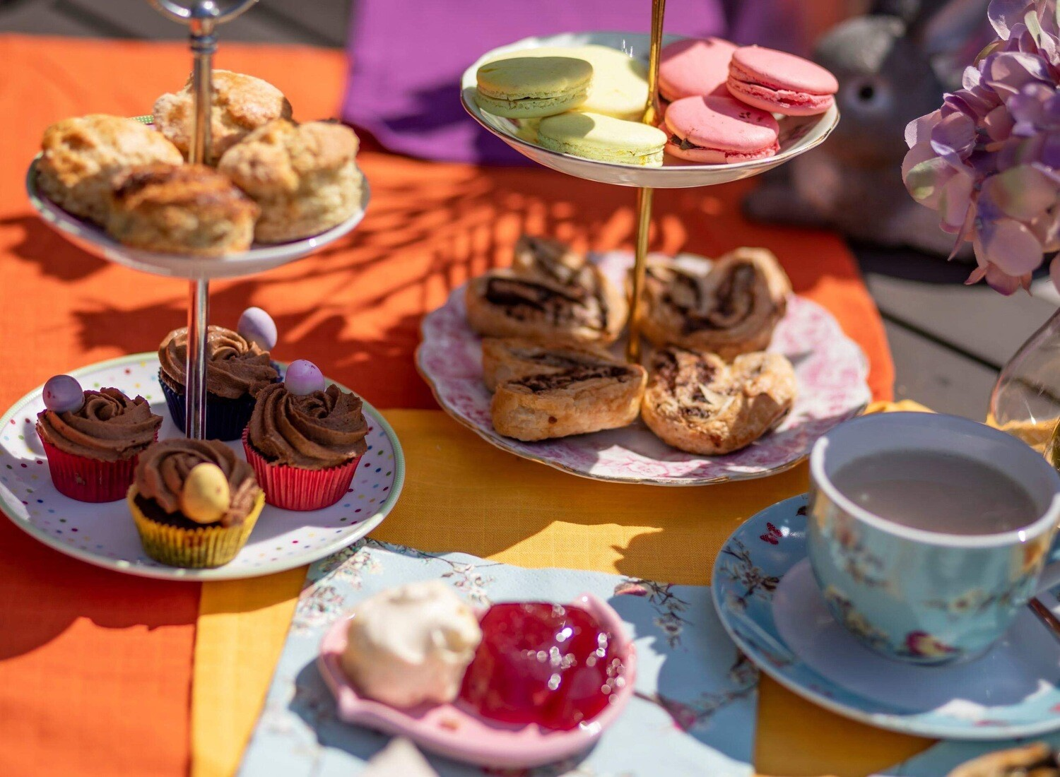 Vegetarian Afternoon Tea for Two or More - Delivery 15th August
