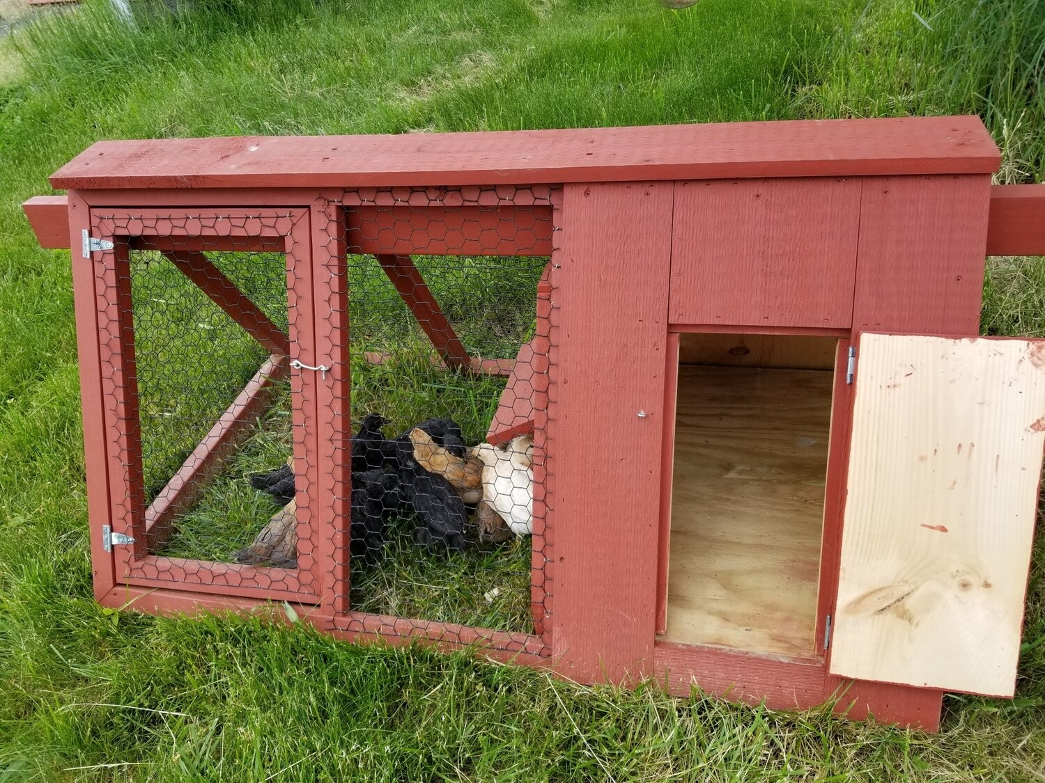 Bunny Hutch.  Single house. Red