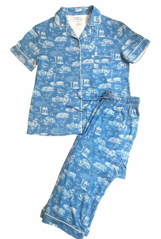 Long Pants — Short Sleeves — Blue