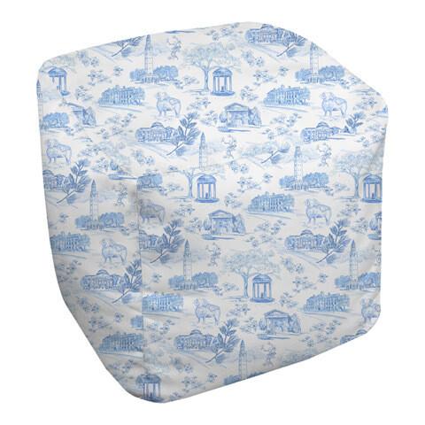 Bean Bag Cube Tar Heel Toile