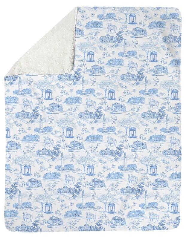 Fleece Blanket Tar Heel Toile