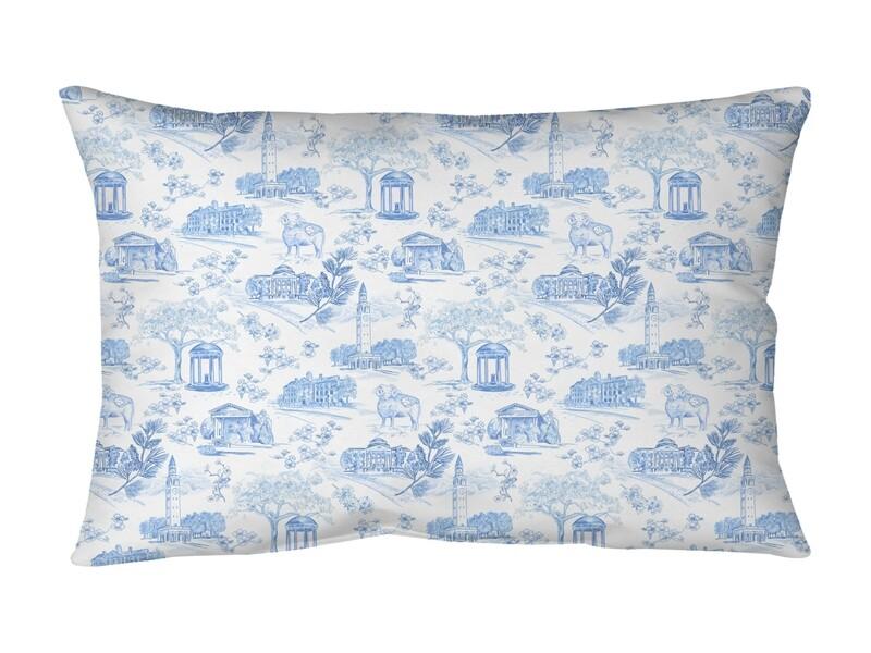 Bolster Pillow Tar Heel Toile