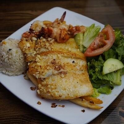 GARLIC FISH AND SHRIMP AL MOJO DE AJO