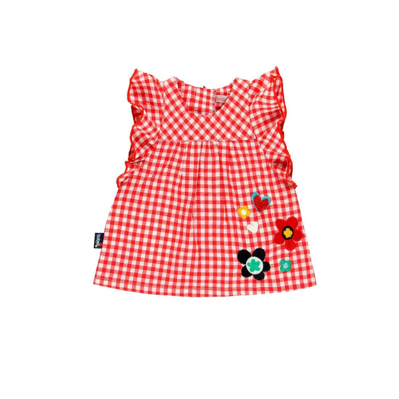 Vestido popelín de bebé niña  BOBOLI