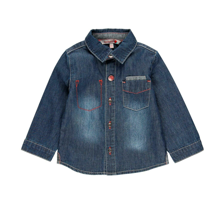 Camisa denim manga larga de bebé niño  BOBOLI