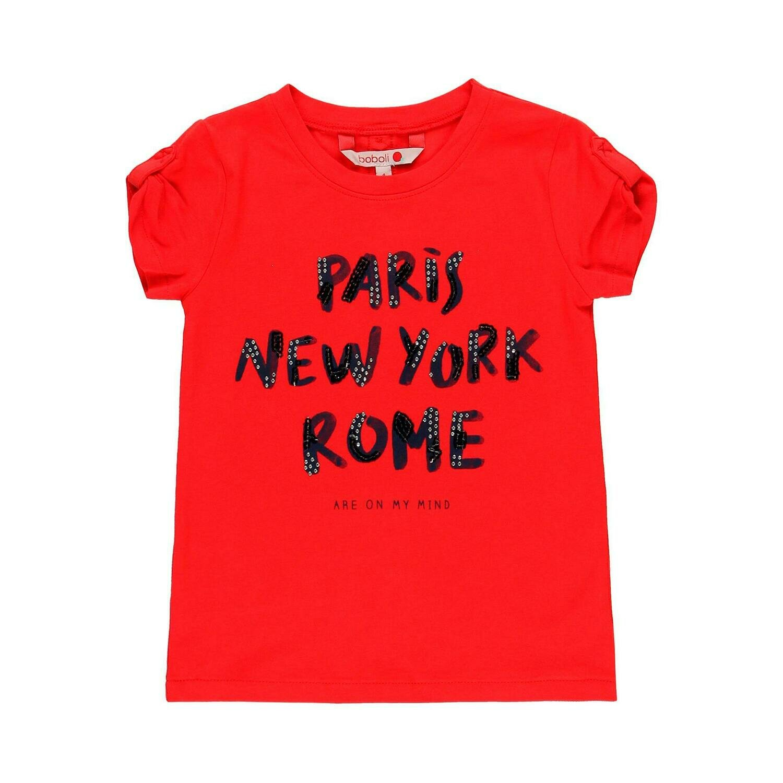 Camiseta punto elástico de niña  BOBOLI