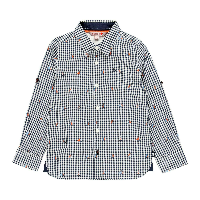 Camisa popelín de niño  BOBOLI