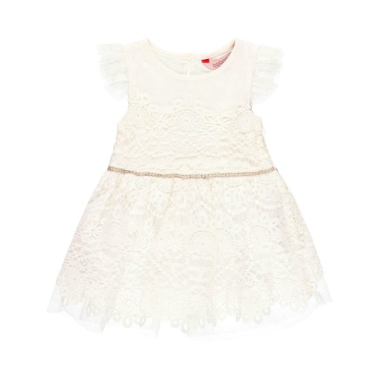 Vestido guipure de bebé niña  BOBOLI