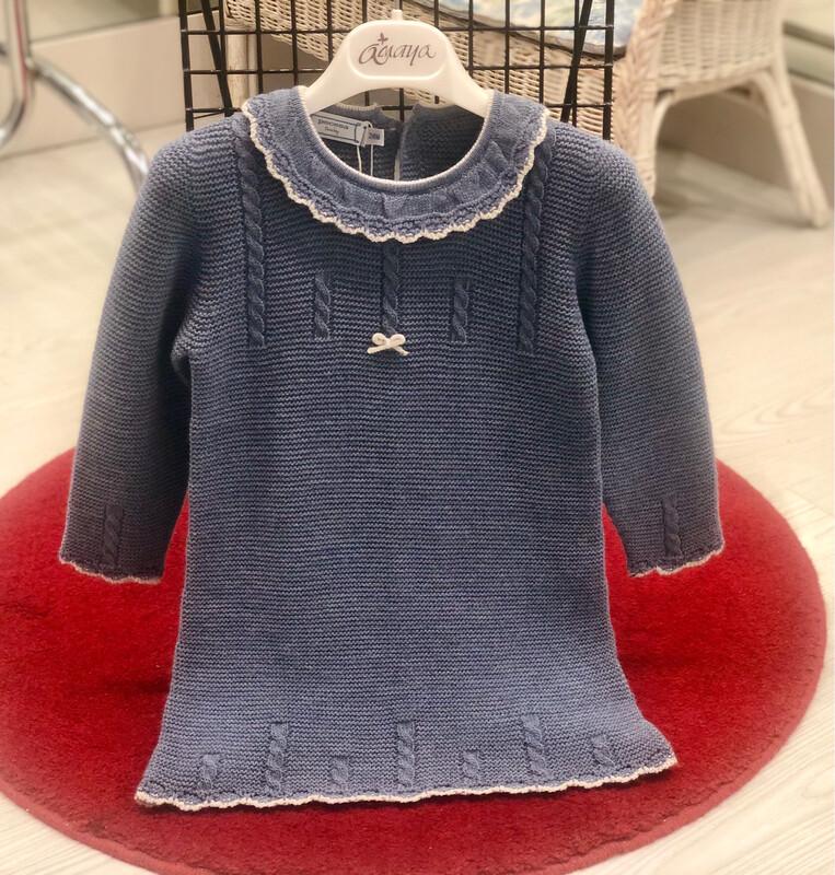 Vestido tricot talla 2 años